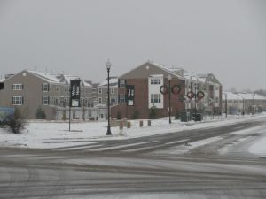 Another view of the townhomes