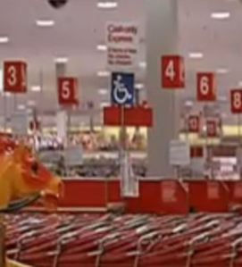Old style Target checkout lanes