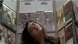 This is how Target used to display CDs. (Yes, that's Jennifer Connelly)