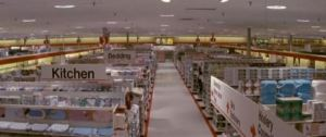A typical interior of a Target store in the 80's and 90's