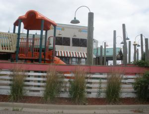 Joe's Crab Shack had a kiddie playground. What, is this McDonalds?