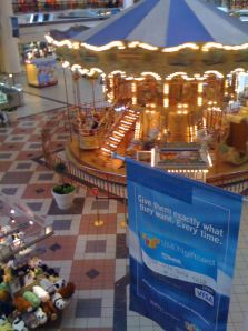 The indoor carosaul is Maplewood Mall's most memorable feature